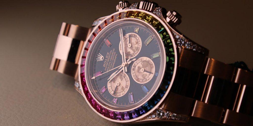 Rolex-Daytona-Rainbow-Everose-Replicheorologiitalia