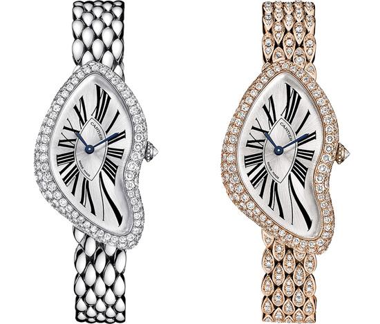 orologio replica oro rosa con diamanti cartier crash