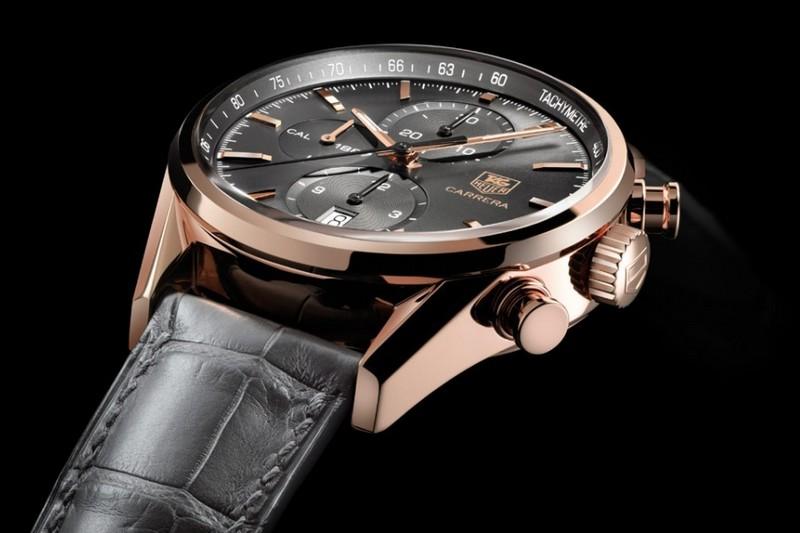 cronografo tag heuer carrera calibre 1887 replica in oro rosa